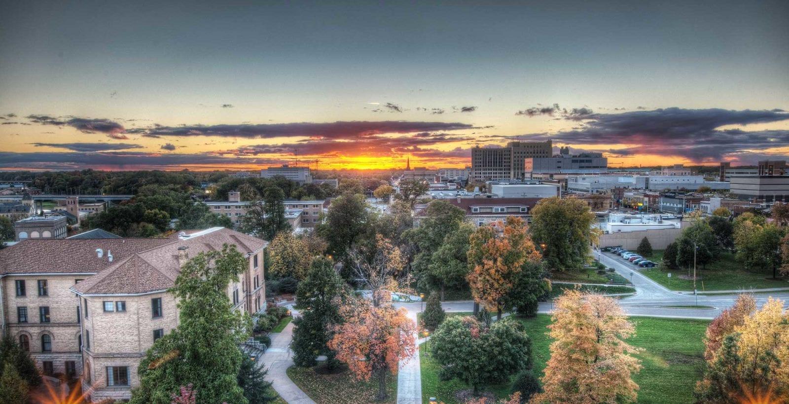 Downtown Appleton, Wisconsin Stock Photo